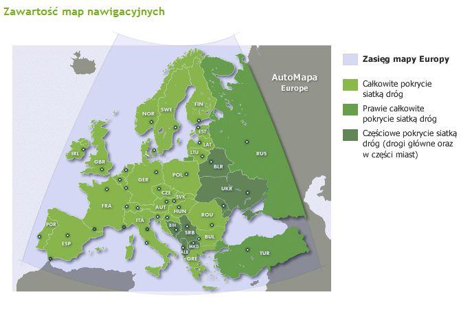 Mapa Samochodowa Europy Wyznaczanie Trasy Online